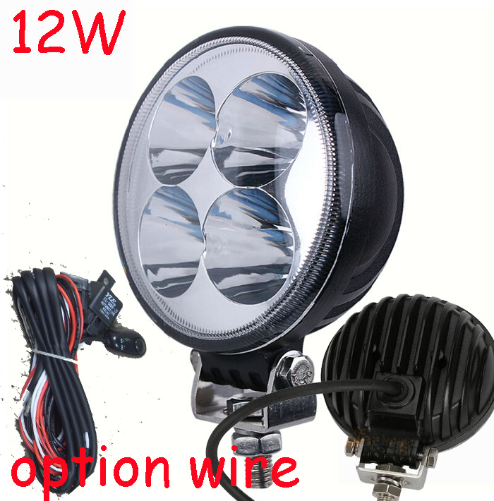 Only 14USD/PCS,12W 950LM 10~30V,6500K,LED working light;Free ship!Optional wire;motorcycle light,forklift,tractor light<br><br>Aliexpress