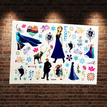 Snow Princess Elsa Anna Temporary Tattoo Paste Kids Fake Tatoo Body Art ACG014 Child Waterproof Cartoon Tattoo Stickers Body Arm