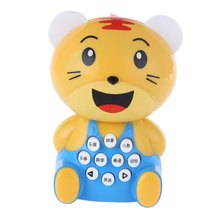 High Quality Children Learning Education Machine Toy Mini Tiger Music Story Light Educational Learn Toy Kids Baby Cartoon Toys(China)