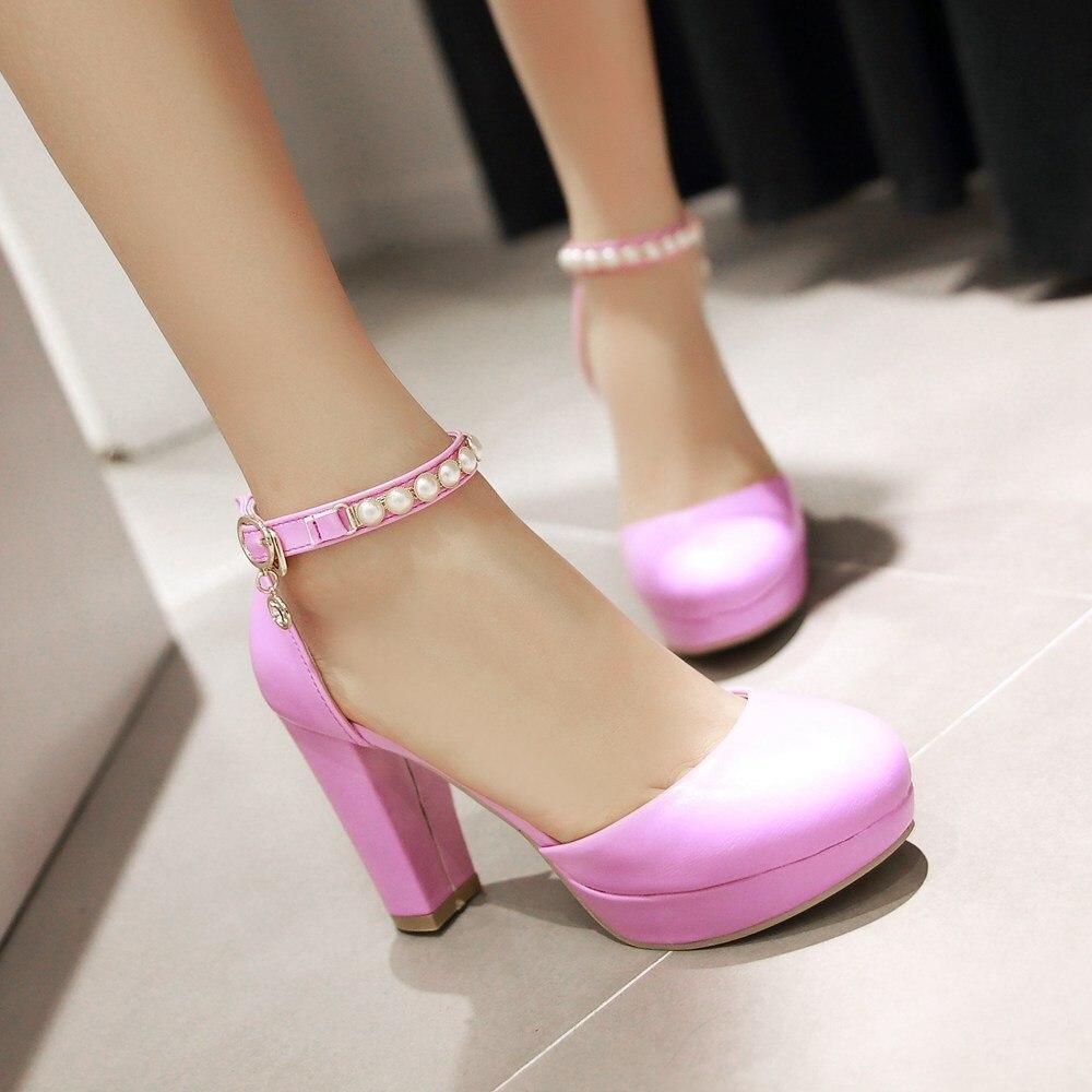 New Lady High Heeled Sandals Fashion Heels round Toe Womens Sandals Wedding Shoes Women black white beige Pumps Size 34-43<br><br>Aliexpress