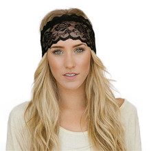 New Fashion  Coolbeener Fashion Women Yoga Sport Elastic Hair Band Vintage Lace Decoration Headband Dec28 Drop Shipping