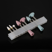 Composite Dental Polishing Kit Light-cured Resin 9 Grinding Heads Teeth Polishing Set for Low-speed Handpiece RA 0309