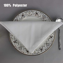 "50pcs/lot 19"" Square White Plain Table Napkin For Hotel Restaurant Polyester Serviette Wedding Party Banquet Folding Cloth"