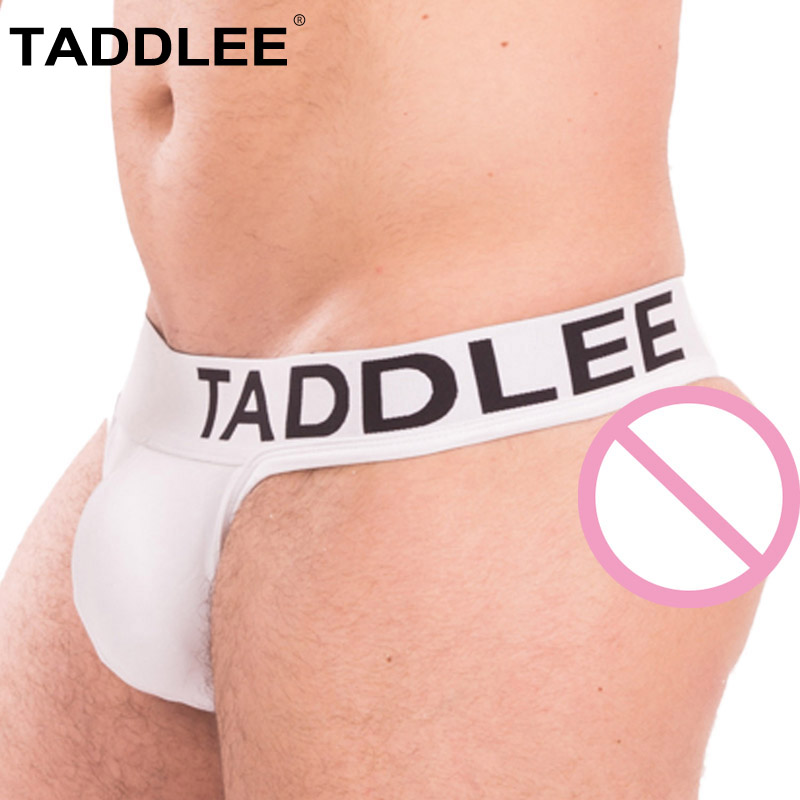 Taddlee Brand Men's Underwear Boxer Briefs Bikini Men Solid Black White Color New Sexy Thong & Strings Cotton Gay Penis Pouch WJ