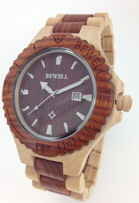 Relojes Luxury Brand Bewell Wood Wristwatch Mens Wood Watch <br>