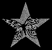 2pc/lot star sticker rhinestones motif hot fix transfer design motif iron on applique patch for coat sweater shirt