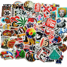 YNYNOO 100Pcs Stickers for Notebook Scrapboking Stiker for Children Car-styling Kids Stickers Sheets Toy For Laptop Suitcase