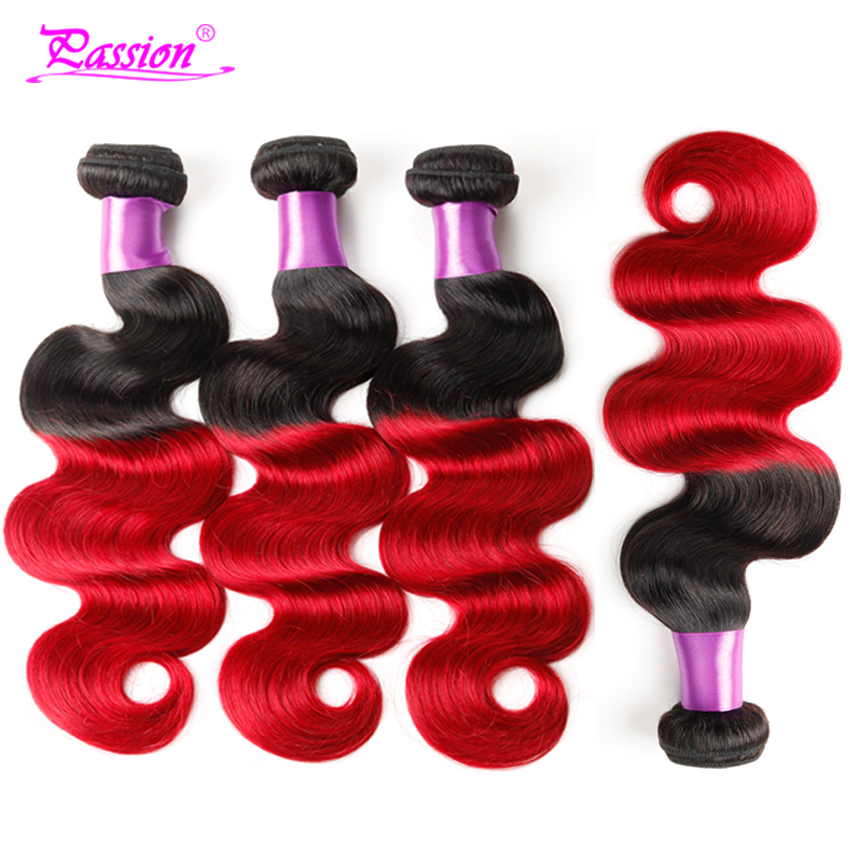 Big Sale Ombre Brazilian 1b/red Hair Bundles 7a Mink Brazilian Body Wave Hair Unprocessed Brazilian Virgin Hair 4 Bundle Deals<br><br>Aliexpress