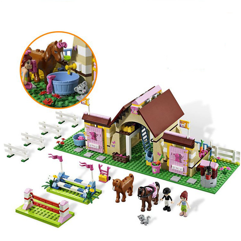 Friends 10163 Heartlake Stables Girls Mias Farm Building Blocks 400pcs/set Bricks Toys Educational Toys For Children<br>