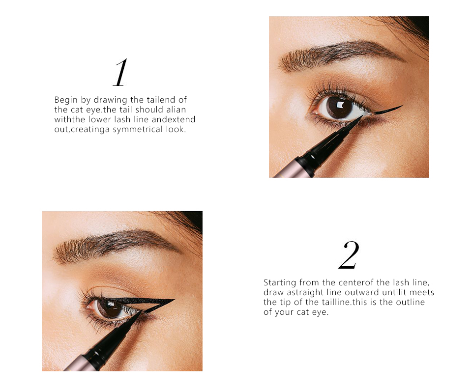 O.TWO.O Liquid Eyeliner Pencil Black Waterproof Professional Lasting Makeup Eye Liner Pen Pencil Easy To Wear Cosmetic Tools 4