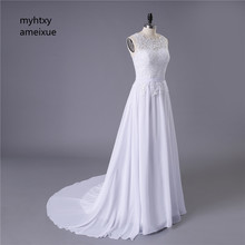 Vestidos De Novia Chiffon Beach Vintage Boho Lace Cheap Wedding Dress 2017 Robe De Mariage Bridal Gown Casamento Imported-china(China)