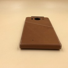 For Nokia 950 Luxury Brown Leather Case With Wireless Charging Original Mobile Phone Cover For Nokia 950 950XL