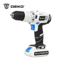 DEKO GCD18DU/3 18V DC New Design Mobile Power Supply Lithium Battery Hammer Cordless Drill Power Tools Impact Electric Drill(China)
