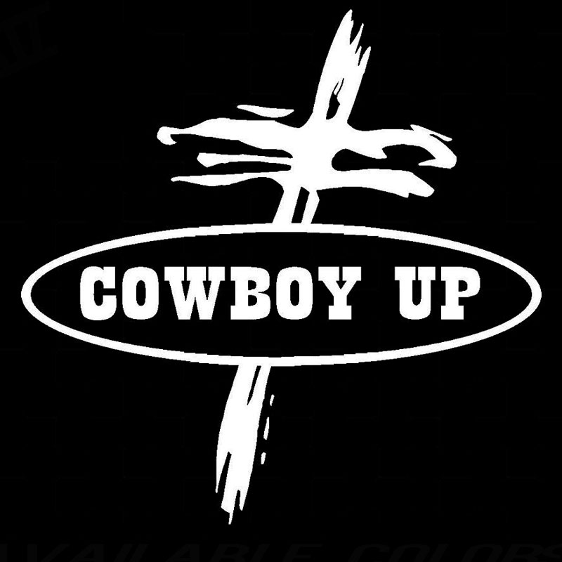 Cowboy up cross wallpaper