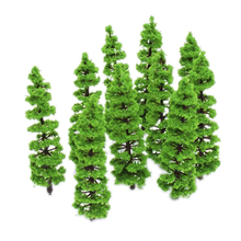 Newest Model 1:100 - 1:150 Fir Tree Train Model Plastic Trunks Set Scenery Landscape -10PCS Model Building Kits Models Toys