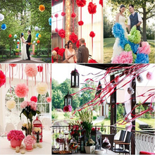 "10pcs 4"" =10cm  decorative Tissue Paper Pom Poms Mix Color Flower Balls Pompom for Wedding party home Decoration"
