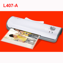 L407-A A4 Photo Laminator Office Hot&Cold Thermal Laminating Machine Professional For A4 Document Photo PET Film Roll Laminator(China)