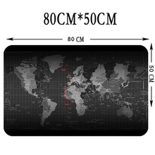 Large Size 800*500*3MM World Map Speed Game Mouse Pad Mat Laptop Gaming Mousepad New PC(China)