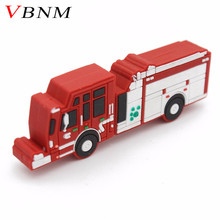 VBNM pendrive fire truck usb flash drive Fire engine pen drive u disk 4GB 8GB 16GB 32GB flash memory sticks free shipping(China)