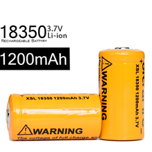 500pcs Wholesale 18350 Batteries Protected 3.7v Battery 1200mah Rechargeable Charging 500 Times Li Ion Batery FOR Flashlight LED