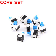 20pcs/lot 8*8MM 6-pin-switch DPDT Mini Push Button Self-locking Switch 8X8mm High Quality