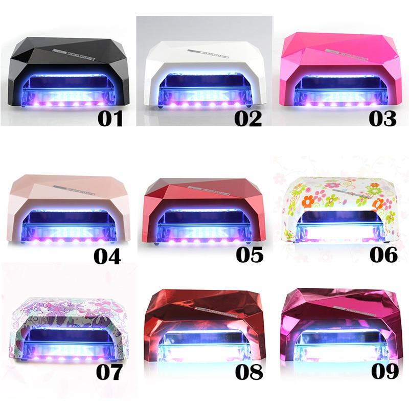 36W LED Lamp 12 W CCFL 24 W LED Long Life Curing for UV Gel Nail Diamond Shaped LED Lamp for Nail Art<br>