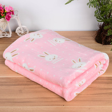 2016 New Pet Dog Beds Mats Cover Cute Cartoon Rabbit Elephant Pattern Warm Soft Fleece Blanket Puppy Bed Mat Cover 3 Size S M L