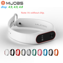 Original Mijobs Dual Color Strap For Xiaomi Mi Band 2 Multiple Bracelet Change Optional Beautiful Stylish Xiaomi Eco Chain(China)