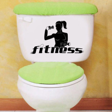 Fitness Center Gym Sports Girl Home Decor Wall Toilet Stickers Decals Vinyl 6WS0121