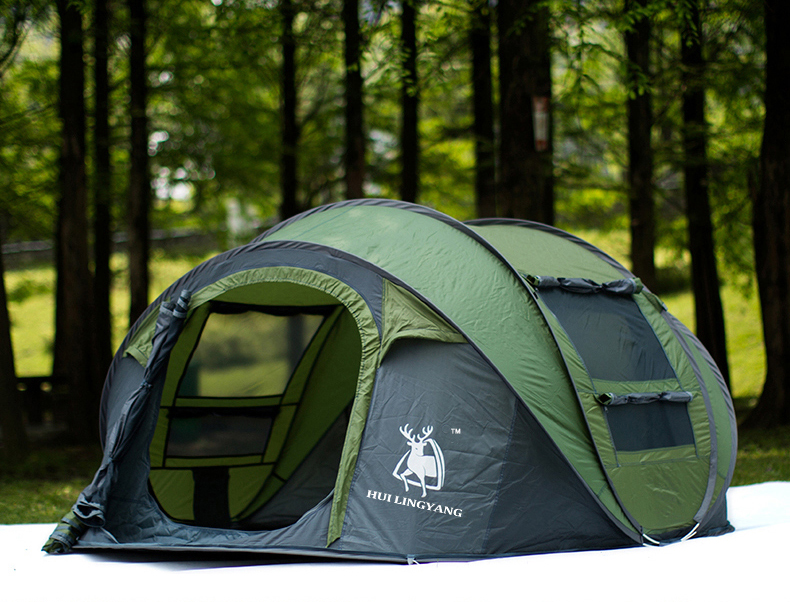 HYL camping pop up tent large 3-4 person windproof (13)