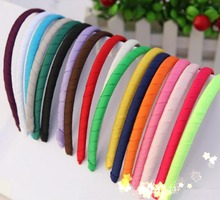 Free Shipping Wholesale 150pcs Fabric Alice Bands Headband Girls Sets School Hair Accessory