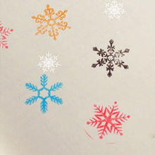 1pcs Funny snowman Wooden stamp Christams snowflake designs Stamps Scrapbooking Decoration Accessories