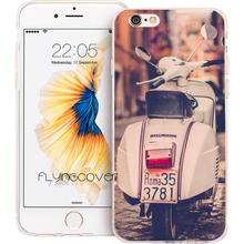 Coque Capa Rome Vespa Scooter Clear Soft TPU Silicone Phone Cover for iPhone X 7 8 Plus Case for iPhone 5S 5 SE 6 6S Plus 4 Case(China)