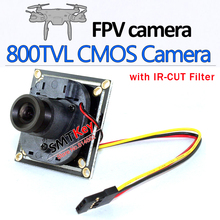 800tvl FPV Camera with ir-cut filter mini Aerial Camera board camera with cable connection to plane  security camera