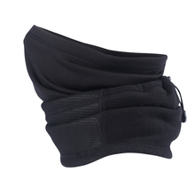 Winter Wool Polar Fleece Thermal Neck Gaiter Tube Ear Warmer Half Face Mask Snowboard Workout Bicycle Head Scarf Headband Black(China)