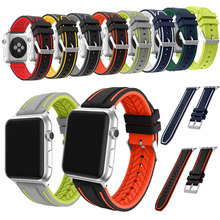 Joyozy band for apple watch series 1 38mm  sport strap for iWatch 42mm Soft Silicone Replacement band+ stainless steel adapters
