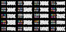 ABEST Reuseable Airbrush Nail Art Stencil 260 DESIGNS - 20 Template Sheets Kit Set 5