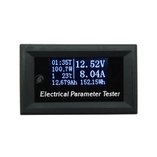 New OLED 100v/10A 7in1 Multifunction Tester Voltage Current Time Temperature Capacity Voltmeter Ammeter Electrical Meter(China)