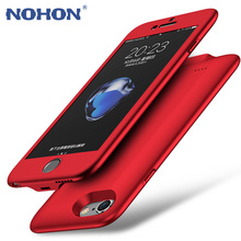 NOHON Battery Charger Case Wireless Power Bank For iPhone 7 / 7 Plus 3500mAh Ultra Slim Backup Battery Case(China)