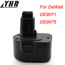 YHR For DeWalt DE9071 12V 2000mAh Rechargeable Battery Power Tools Batteries for Drill DE9074 DE9075 DC9071 DE9037 DE9501 Ni-MH(China)