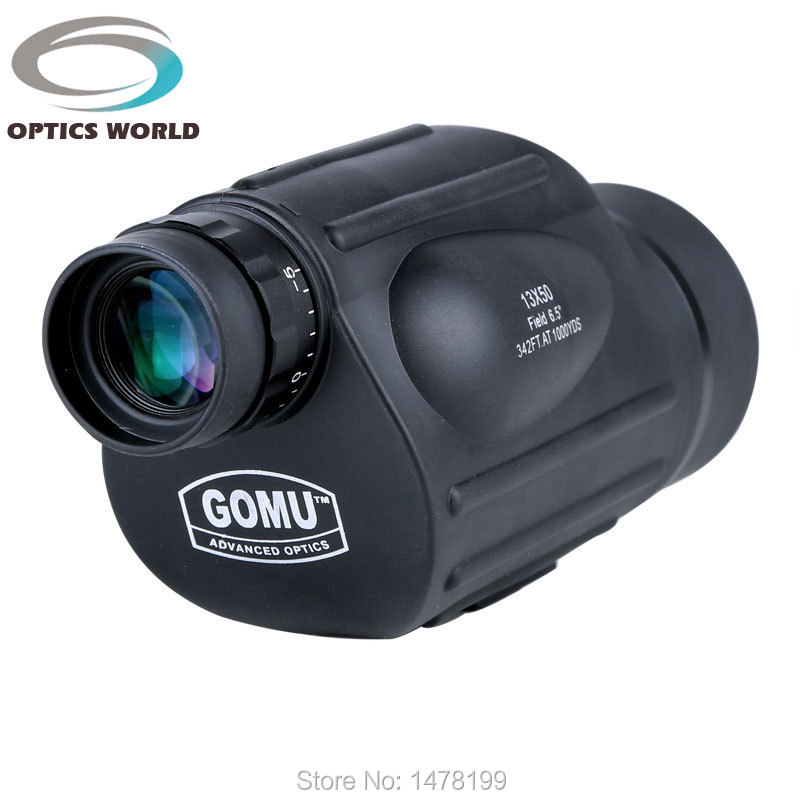 GOMU 13X50 monocular high quality HD 114M / 1000M FOV outdoor telescope birdwatching fishing and hunting waterproof eyepiece<br>