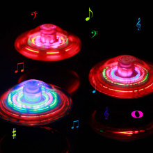 New Peg-Top Spinner Top Spinning Toys Fidget Hand Spinner Music Gyro Color Laser Flashing LED Light Funny Finger Toy For Child(China)