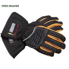 FREE SOLDIER Tactical gloves thickening wear-resistant thermal gloves skiing ride sports full finger gloves for men's