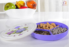 High Quality Plastic Storage Vacuum Boxes Fruit Plates Dessert Dishes Snacks Tray Food Salver (MH-1190)(China)
