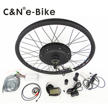 electric bike brushless hub motor kit 500w bicycle conversion kit with new LCD display
