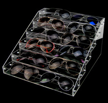 5cm Wide Acrylic Sunglasses Display Stand Eyeglasses Showing Rack Shelf Jewelry Holder Cosmetic Showcase Watch Showing Box(China)