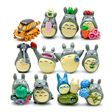 (12pcs/lot) my neighbor Totoro figure gifts doll resin miniature figurines Toys 1-3cm PVC plactic japanese cute anime GYH