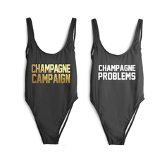 CHAMPAGNE CAMPAIGN Custom Bodysuit One Piece Swimwear Sexy High Cut  Swimsuit PROBLEM Bathing Suits Women Jumpsuit Monokini