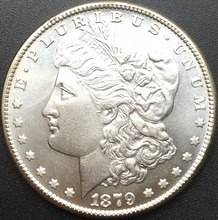Untied States 1879 CC Cupronickel Silver Plated Morgan One Dollar Replica Coins(China)