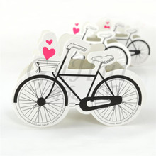 50Pcs/set European candy box romantic love bicycle candy box wedding party favor gift chocolate box travel theme celebration
